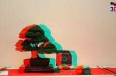 3D Anaglyph Bonsai: Wacholder 2